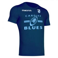 Cardiff Blues 2020/21 navy blue children's travel t-shirt